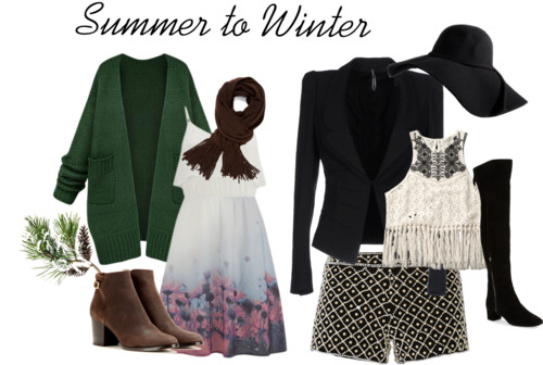 Transform summer to winter clothes
