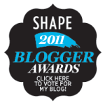 SHAPE Magazine Blogger Awards