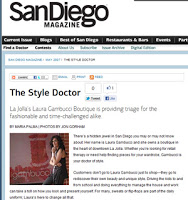 San Diego Magazine fashion article