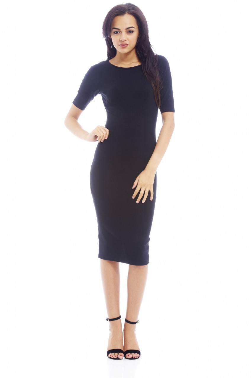 3/4 Sleeve little black dress