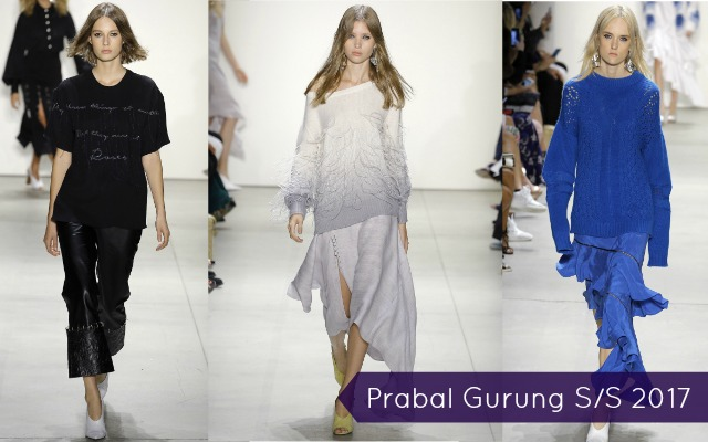 Flowy outfits for Prabal Gurung Spring 2017