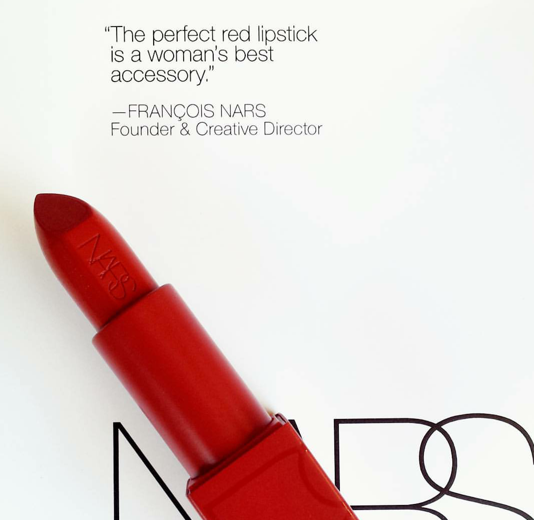 Red lipstick quote by Francois Nars