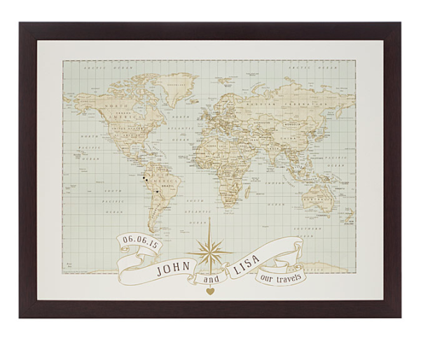 Personalized Anniversary Map