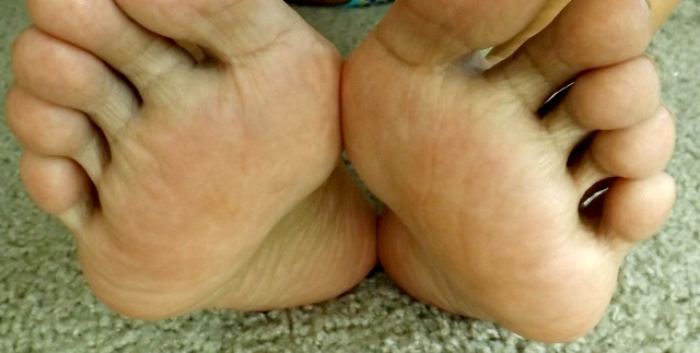 Bottoms of feet
