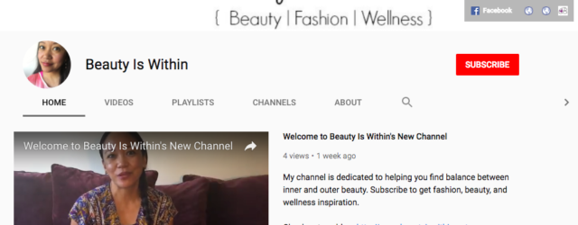 Beauty Is Within's YouTube Channel