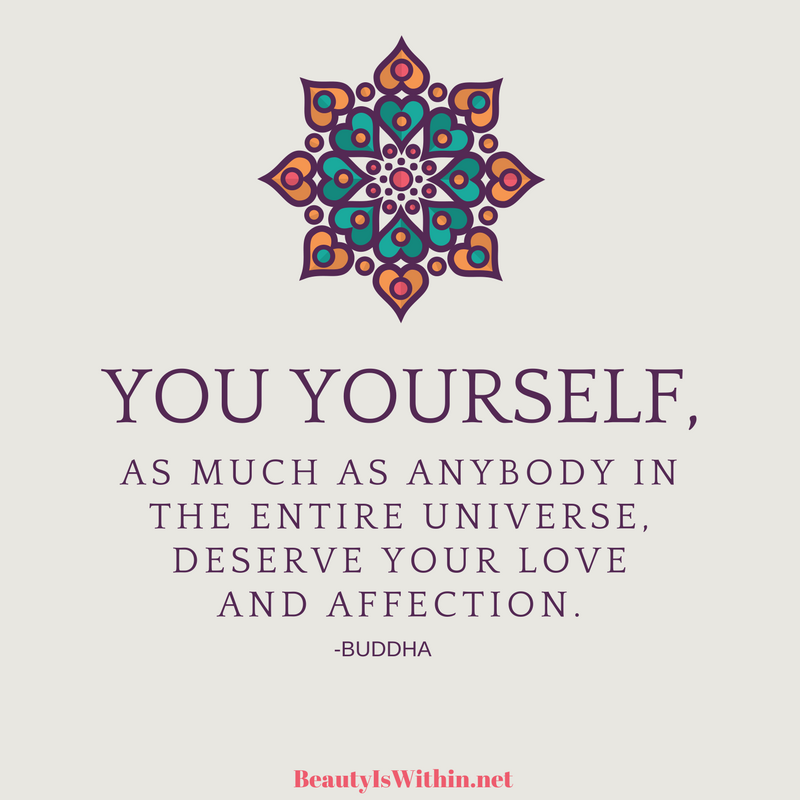 Self love quote from Buddha