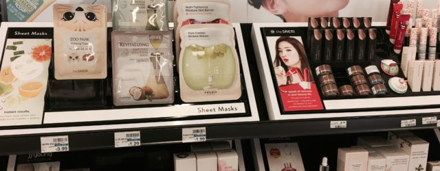 Korean skincare products at CVS